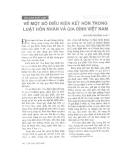 """Báo cáo """"Về một số điều kiện kết hôn trong luật hôn nhân và gia đình Việt Nam """""""