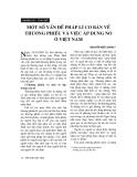 """Báo cáo """"Một số vấn đề pháp lý cơ bản về thương phiếu và việc áp dụng nó ở Việt Nam """""""
