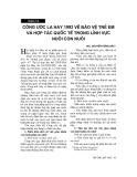 """Báo cáo """" Công ước La Hay 1993 về bảo vệ trẻ em và hợp tác Quốc tế trong lĩnh vực nuôi con """""""