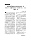 """Báo cáo """"Một số khía cạnh pháp lý trong hiệp định Việt - Mỹ"""""""