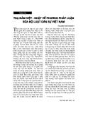 """Báo cáo """"Hướng Hoàn thiện pháp luật về dịch vụ tư vấn pháp luật tại Việt Nam """""""