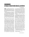 """Báo cáo """"   Đối tượng và phương pháp điều chỉnh của luật hiến pháp """""""