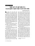 """Báo cáo """"  Một số vấn đề mới của luật quốc tịch Việt Nam năm 1998"""""""