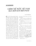 """Báo cáo """"Chính thể nước Việt Nam qua bốn bản Hiến pháp """""""