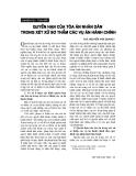 """Báo cáo """"Quyền hạn của toà án nhân dân trong xét xử sơ thẩm các vụ án hành chính """""""