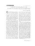 """Báo cáo """" Vấn đề văn hoá pháp luật ở nước ta trong giai đoạn hiện nay """""""