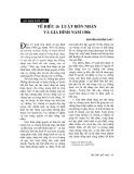 """Báo cáo """"    Về điều 16 luật Hôn nhân và gia đình năm 1986"""""""