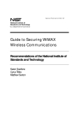 guide to security for wimax technologies draft