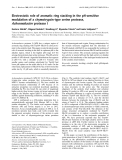 Báo cáo khoa học: Electrostatic role of aromatic ring stacking in the pH-sensitive modulation of a chymotrypsin-type serine protease, Achromobacter protease I