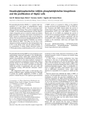 Báo cáo khoa học:  Hexadecylphosphocholine inhibits phosphatidylcholine biosynthesis and the proliferation of HepG2 cells