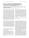 Báo cáo khoa học:  Role of Ca2+/calmodulin regulated signaling pathways in chemoattractant induced neutrophil effector functions Comparison with the role of phosphotidylinositol-3 kinase