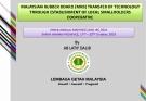 MALAYSIAN RUBBER BOARD (MRB) TRANSFER OF TECHNOLOGY  THROUGH ESTABLISHMENT OF LOCAL SMALLHOLDERS  COOPERATIVE
