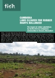 CAmboDIA LAnD CLeAreD For rubber rIgHts buLLDozeD