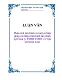 LUẬN VĂN: Phân tích tài chính và một số biện pháp cải thiện tình hình tài chính tại Công ty TNHH TMDV và Vận tải Xuân Lâm