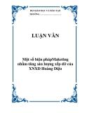 LUẬN VĂN:  Một số biện phápMaketing nhằm tăng sản lượng xếp dỡ của XNXD Hoàng Diệu