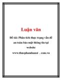 Đề tài: Phân tích thực trạng vấn đề an toàn bảo mật thông tin tại website www.thucphamhanoi  . com.vn