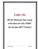 Đề tài: Đánh giá thực trạng triển khai xúc tiến TMĐT tại sàn giao dịch Vnemart