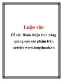 Đề tài: Hoàn thiện tính năng quảng cáo sản phẩm trên website www.longthanh.vn