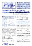 Xác định các yếu tố của tam giác trong mặt phải tọa độ