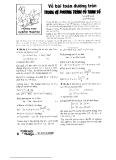 Bài toán về đường tròn trong hệ phương trình có tham số - Nguyễn Đễ