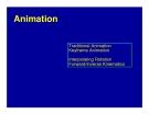 Traditional Animation Keyframe Animation - Interpolating Rotation Forward/Inverse Kinematics