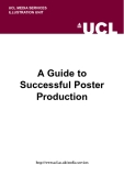 A Guide to  Successful Poster  Production