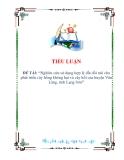 Luận văn thạc sỹ khoa học: Nghiên cứu sử dụng hợp lý đất đồi núi cho phát triển cây hồng không hạt và cây hồi của huyện Văn Lãng, tỉnh Lạng Sơn