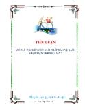 tiểu luận: NGHIÊN CỨU GIẢI PHÁP BẢO VỆ XÂM NHẬP MẠNG KHÔNG DÂY