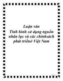 Luận văn Tình hình sử dụng nguồn nhân lực và các chính sách phát triểnở Việt Nam