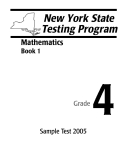 NEW YORK STATE TESTING PROGRAM 4: MATHEMATICS