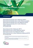 Sample Assessment Materials September 2007