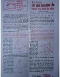 Bài toán xác định tâm hình cầu ngoại tiếp khối đa diện