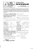 Về bài toán thể tích khối đa diện