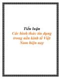 Tiểu luận Các hình thức tín dụng trong nền kinh tế Việt Nam hiện nay