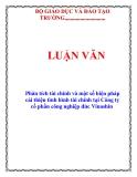 LUẬN VĂN:  Phân tích tài chính và một số biện pháp cải thiện tình hình tài chính tại Công ty cổ phần công nghiệp đúc Vinashin