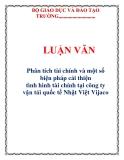 LUẬN VĂN: Phân tích tài chính và một số biện pháp cải thiện tình hình tài chính tại công ty vận tải quốc tế Nhật Việt Vijaco