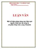 LUẬN VĂN: Một số biện pháp nâng cao hiệu quả nguồn nhân lực tại công ty cổ phần thép Cửu Long Vinashin