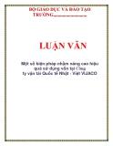 LUẬN VĂN: Một số biện pháp nhằm nâng cao hiệu quả sử dụng vốn tại Công ty vận tải Quốc tế Nhật - Việt VIJACO