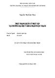 luận văn: THỰC TRANG QUẢN LÝ THỰC TẬP TẠI TRƯỜNG ĐẠI HỌC Y KHOA PHẠM NGỌC THẠCH