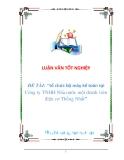 """LUẬN VĂN: """"tổ chức bộ máy kế toán tại Công ty TNHH Nhà nước một thành viên điện cơ Thống Nhất"""