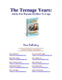 The Teenage Years: Advice For Parents On How To Cope