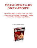 INSANE MUSLE GAIN FREE E-REPORT