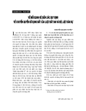 """Báo cáo """" Về mối quan hệ giữa các quy định về chuyển quyền sử dụng đất của Luật đất đai và Bộ luật dân sự """""""