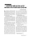 """Báo cáo """"  Lịch sử phát triển của pháp luật về hôn nhân có yếu tố nước ngoài tại Việt Nam """""""
