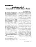 """Báo cáo """"  Các nội dung chủ yếu của luật đất đai sửa đổi, bổ sung năm 2001 """""""