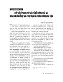 """Báo cáo """" Pháp luật, áp dụng pháp luật về bồi thường thiệt hại ngoài hợp đồng ở Việt Nam - thực trạng và phương hướng hoàn thiện """""""