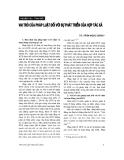 """Báo cáo """" Vai trò của pháp luật đối với sự phát triển của hợp tác xã """""""