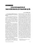 """Báo cáo """" Vị trí, vai trò của quan hệ pháp luật trong cơ chế điều chỉnh pháp luật và trong đời sống thực tiễn """""""