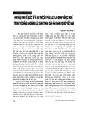 """Báo cáo """"Hội nhập kinh tế quốc tế và vai trò của luật pháp lao động về học nghề trong việc nâng cao năng lực cạnh tranh của các doanh nghiệp Việt Nam """""""
