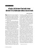 """Báo cáo """"  Về quản lý đối với kinh tế nhà nước trong nền kinh tế thị trường định hướng XHCN """""""